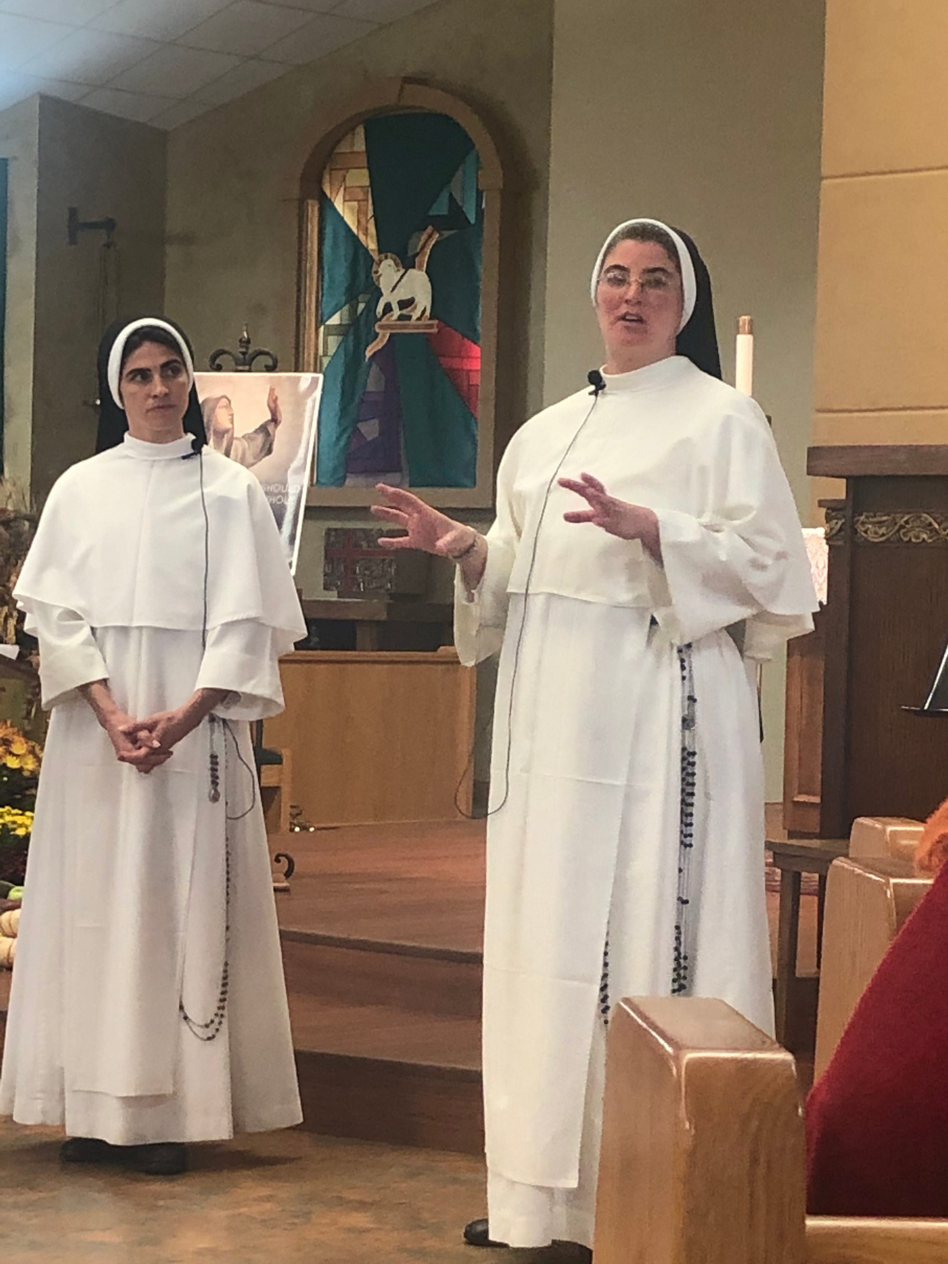 Sr. Marie Hannah and Sr Michaela